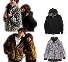 Unisex Woman Man Leopard Jacket two sides Hoodie/ Hooded Sweater Zip up Cardigan