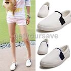 Korean Casual Canvas Flat Shoes Slip on Flattie Loafers Women Lady Girl Student