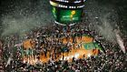 Boston Celtics Championship Garden celebration aerial 8x10 11x14 16x20 photo 820
