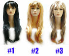 LONG D-PARTY WIG COSTUME THREE COLOURS AVAILABLE