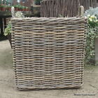 Log Toy Storage Basket Grey Rattan Square