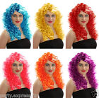 "Ladies Siren Long Curly "" Tight Curl  "" Fancy Dress Wig: variety of colours"