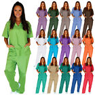 Medical Nursing Scrub Set NATURAL UNIFORMS Men Women Unisex Top Pants Hospital