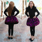 Girls Childrens Kids Teen Magenta Lace Puff Ball Party Dress Up Skirt  age 7-13