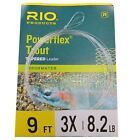 Rio Powerflex Knotless Tapered Trout Fly Fishing Leader/Cast - Choose Strength