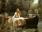 The Lady of Shallot 1888 by John William Waterhouse Art Poster Repro FREE S/H