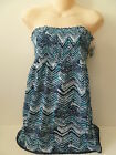 NEW STYLE & CO Casual Dress BLUE or PURPLE strapless TOP