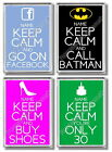 Keep Calm Fridge Magnets (Large Size) - Ready made designs & design your own!