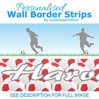 FOOTBALL WALL BORDER strips personalised wallpaper for boys girls soccer bedroom