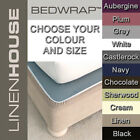 Linen House Bedwrap Valance wraps around base of bed sleek and modern