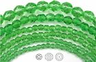 """Czech Fire Polished Round Faceted Beads in Peridot color, 16"""" strand"""