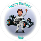 Personalised Nico Rosberg Formula one F1 Mercedes Edible Cake Toppers