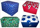 FOOTBALL,TEAM THEMED CHILDREN`S TOY BOXES,STORAGE,GIFTS,MED LARGE (26X16X14 In)