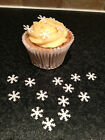 100 Edible Rice Paper Snowflakes Christmas Cupcake / Cake Toppers (1.5cm)
