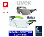 UVEX PHEOS SAFETY GLASSES 9192-225 *SPECTACLES GOGGLES CLEAR DARK SMOKE GREY SUN