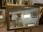 NEW ANTIQUE GOLD RIBBED WALL AND OVERMANTLE MIRROR - VARIOUS SIZES AVAILABLE