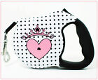 26 Bars And A Band Cute Dog Retractable Leash High Quality 1Pink Heart Princess