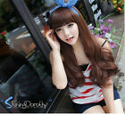 Women Girls' New Fashion Sexy Long Curly Full Wavy Hair Wig 3 Colors Available