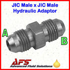 Hydraulic Steel Male JIC 37º FLARE x JIC Male Adaptor Unequal Fitting Union SAE