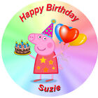 Edible Personalised Peppa Pig Cupcake Party Wafer Cake Toppers