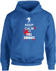 Keep Calm and Kill Zombies, Walking Dead Zombie Inspired Kid's Printed Hoody