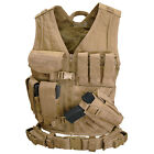Condor CV Cross Draw Tactical Vest WITH pouches, holster AND Tactical Belt