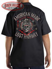 Lost Highway American Made Work Shirt Biker M-3XL 1971 Classic Motors Indian