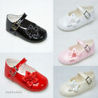 Baby Girls Shoes Pram Shoes White,Ivory,Pink,Red,Black Patent Christening/Party
