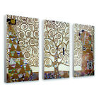 LARGE Canvas Gustav Klimt Tree of life Set of 3 panels fine art reproduction