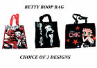Betty Boop plastic tote eco shopper  shopping bag for life choice of designs