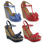 NEW WOMEN'S HIGH HEEL PLATFORM WEDGE SUMMER SANDALS LADIES PARTY SHOES SIZE 3-8