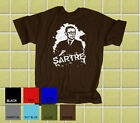 JEAN-PAUL SARTRE Philosophy Literary T-Shirt: All Sizes