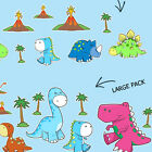 CUTE DINOSAURS bedroom WALL STICKER PACK childs boys girls stickarounds decals