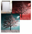 Cherry Blossom  Tree Painting - Fabric Polyester Shower Curtain -  Decorative