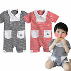 "NWT Vaenait Baby Newborn Infant Unisex One-Piece Bodysuit "" Melon Stripe"""