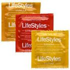 LIFESTYLES ASSORTED FLAVOR CONDOM BANANA, STRAWBERRY & VANILLA FLAVORS