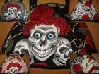 Skull & Roses Womens Small Hand Bag Fashion Tattoo Design Brand New 5 Colours