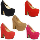 NEW WOMENS LADIES SUEDE PLATFORM STRAPPY BUCKLE CUTOUT WEDGES HEELS SHOES SIZE