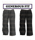 NEW BOYS GENEROUS STURDY FIT SCHOOL TROUSERS TEFLON COATED GREY BLACK 8-13 YEARS