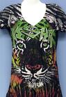 KESHA - TIGER ALL OVER JUNIORS TEE - 100% OFFICIAL BAND MERCHANDISE T-SHIRT M