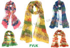 SUMMER SCARF NEW MAP PRINT SUMMER COLOURS