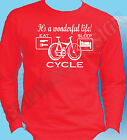 Cyclist T-Shirt  Various Colours Long Sleeve Cut Great Gift Idea Bike Cycle