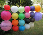 "5pc 10pcs 8"" 10"" 12"" Wedding Chinese Round Paper Lanterns Party Decoration"
