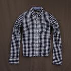 Hollister Womens Bolsa Chica Shirt Long Sleeve Navy Check XS by Abercrombie NWT!