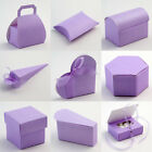 Lilac Silk Wedding Favour Boxes (Pk 10) - choice of shapes
