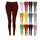 CLEARANCE NEW WOMENS LADIES SKINNY FIT COLOURED STRETCH JEANS JEGGINGS SIZE 8-20