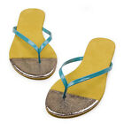 US5-9 splicing color Flip Flops beach Sandal ladiess flats shoes  [JG]