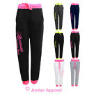 NEW LADIES BASEBALL BOXUSA SPORT TRACKSUIT JOGGING BOTTOMS SIZE 8-14
