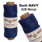 Natural Hemp Cord 20lb 1mm 205feet /62m 50gram SPOOLS in 16 COLORS AVAILABLE
