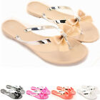 Womens Flip Flops Flats Summer Holiday Toe Post Sandals  Shoes Size